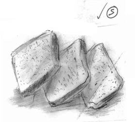 10-MIN Drawing of Bread Slices by pokemonlake
