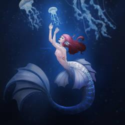 A light under the sea