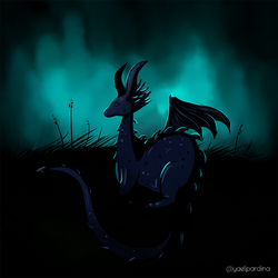 Dragon with ryky