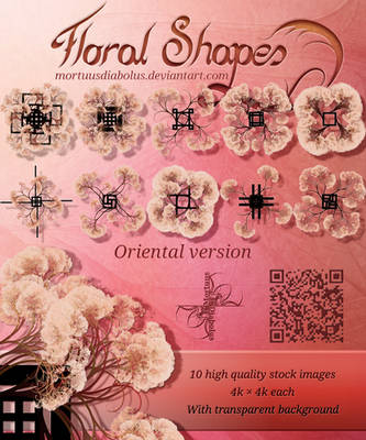 Floral Shapes 02 ~ Oriental version by MortuusDiabolus