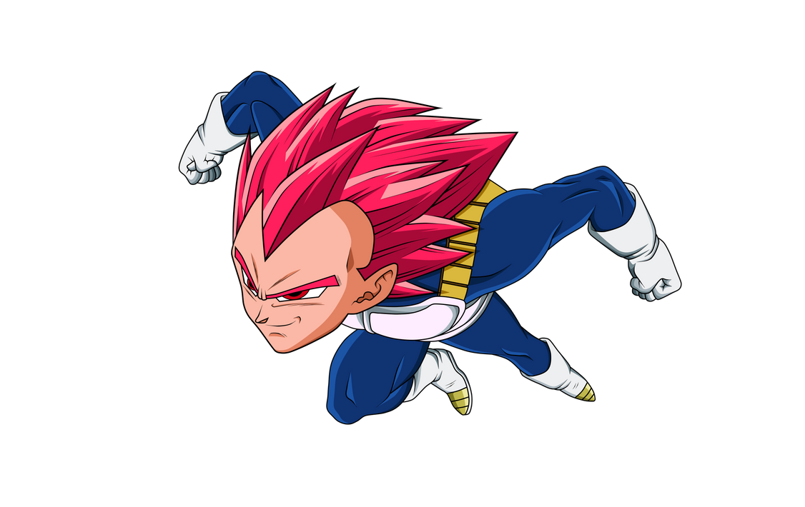 Vegeta Ssj God Red V.1 by Luciano160