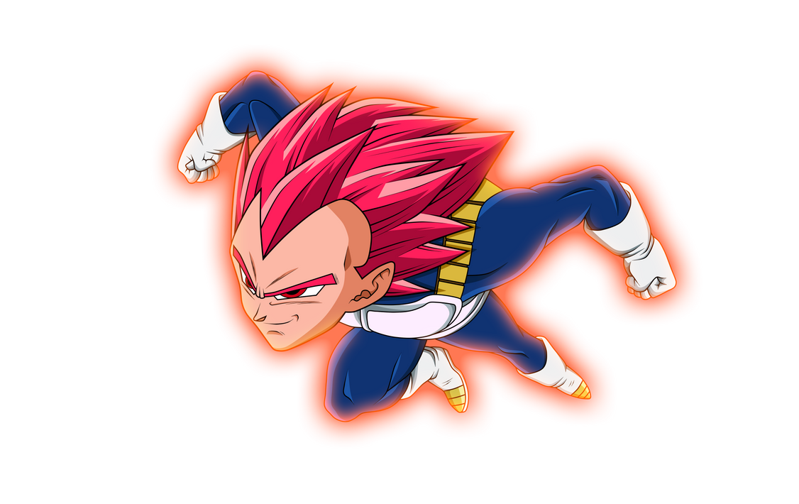 Vegeta Ssj God Red V.2 by Luciano160