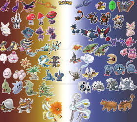 Fakemon Exclusives Solar and Lunar