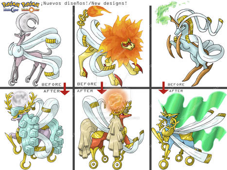 New Designs of my Legendaries Fakemon! 4