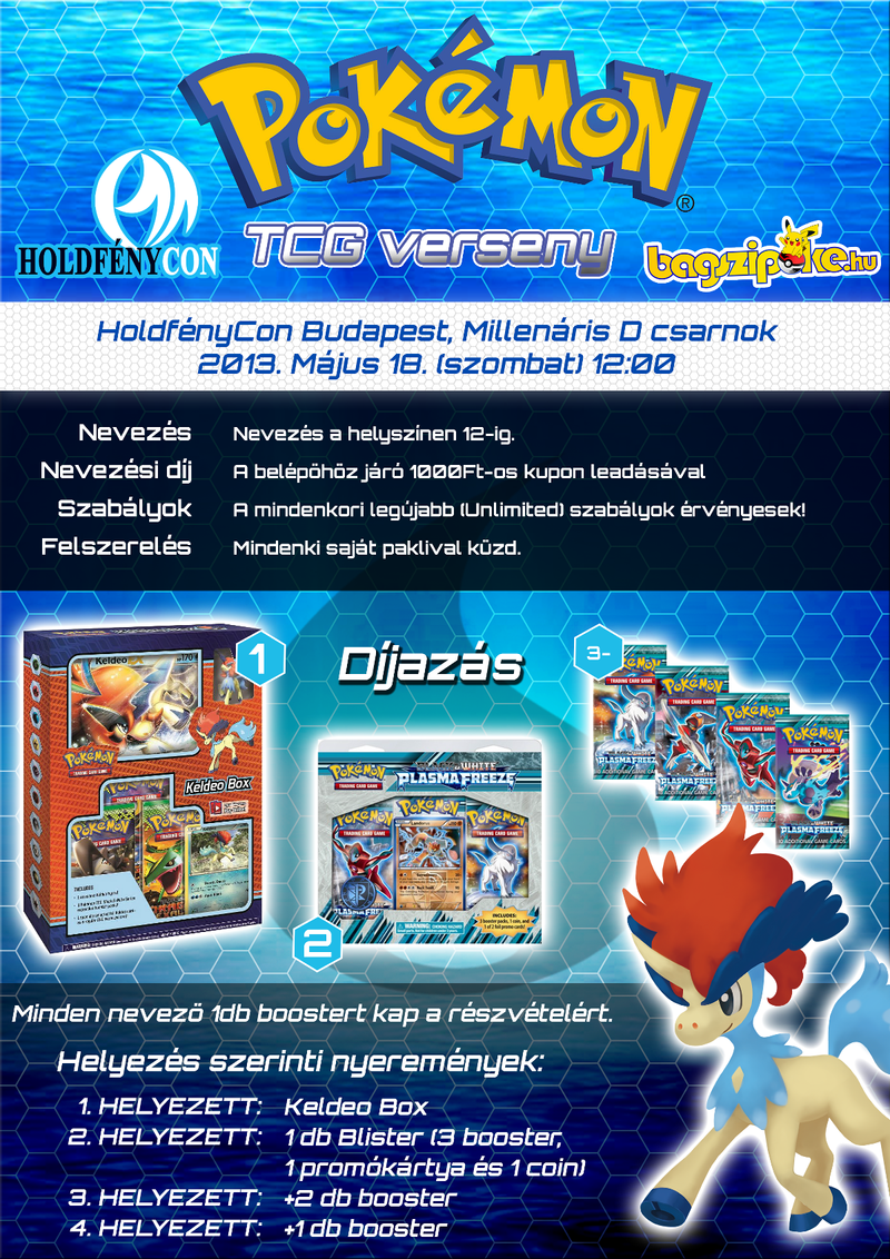 Water [Keldeo] Themed TCG Competition Poster by VADi25