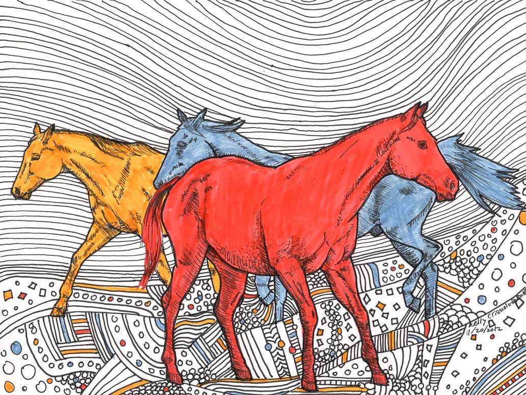 Horses art trade