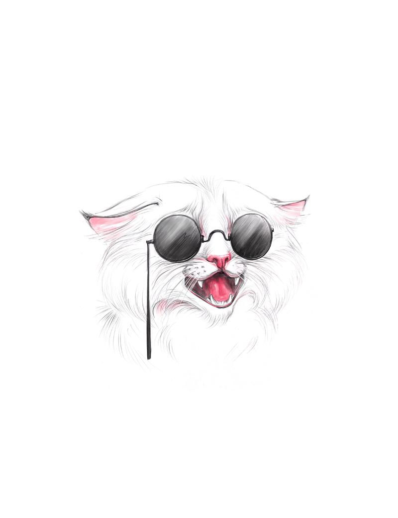 White Cat by vincvincit