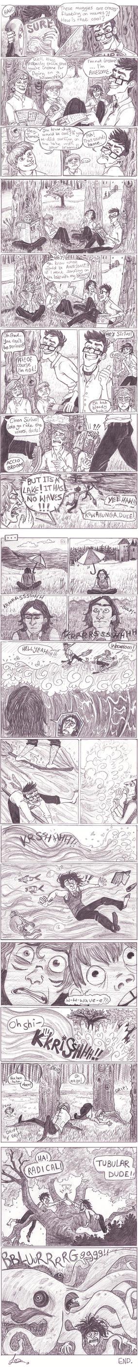 Wizard Surfing by Alatariel-Amandil