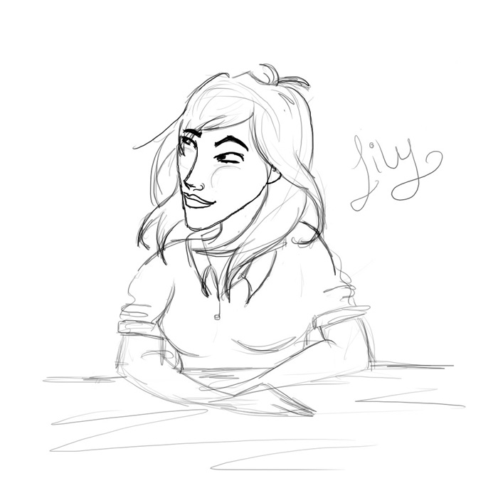 Lily - tablet drawing by Alatariel-Amandil