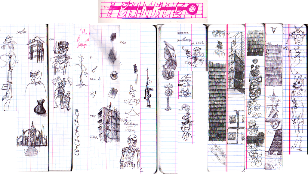 End of Exams Spechal - Copybook Side Doodles by AzonBobcat