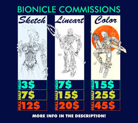 [OPEN] Bionicle Commissions