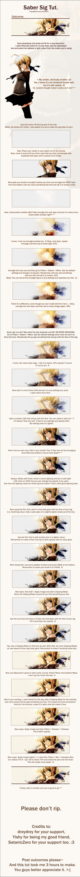 Saber tag. by PPFtuts