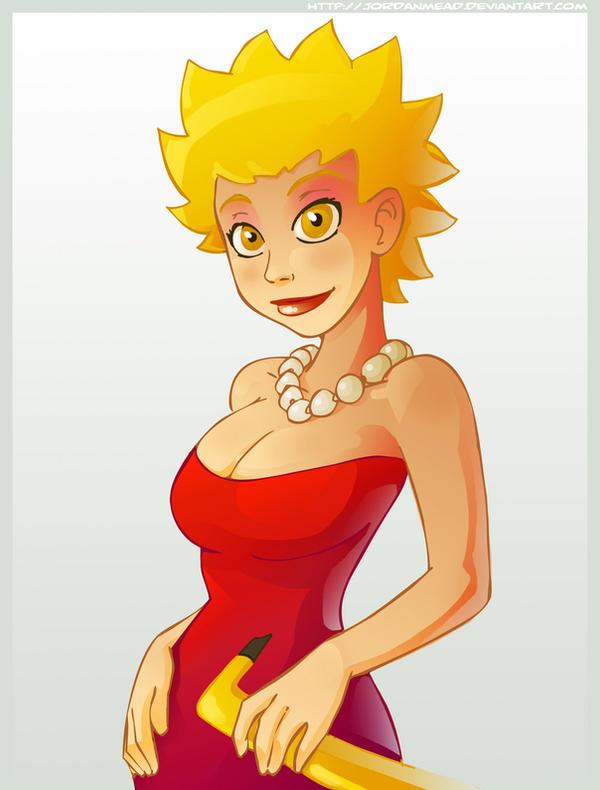 Lisa Simpson crescida, por Jordan Mead