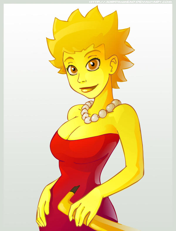 Lisa Simpson - liver failure by mastermead