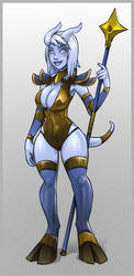 Draenei chick for Soi by mastermead