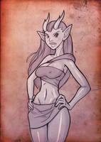 CCD - horny elf for Sawblade by mastermead