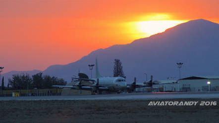 P-3 Orion at Sunrise