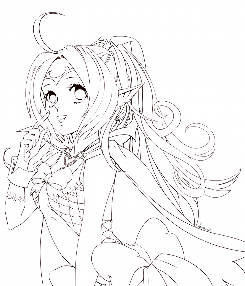 Line Art Anime : Nowi line art by arenheim on deviantart