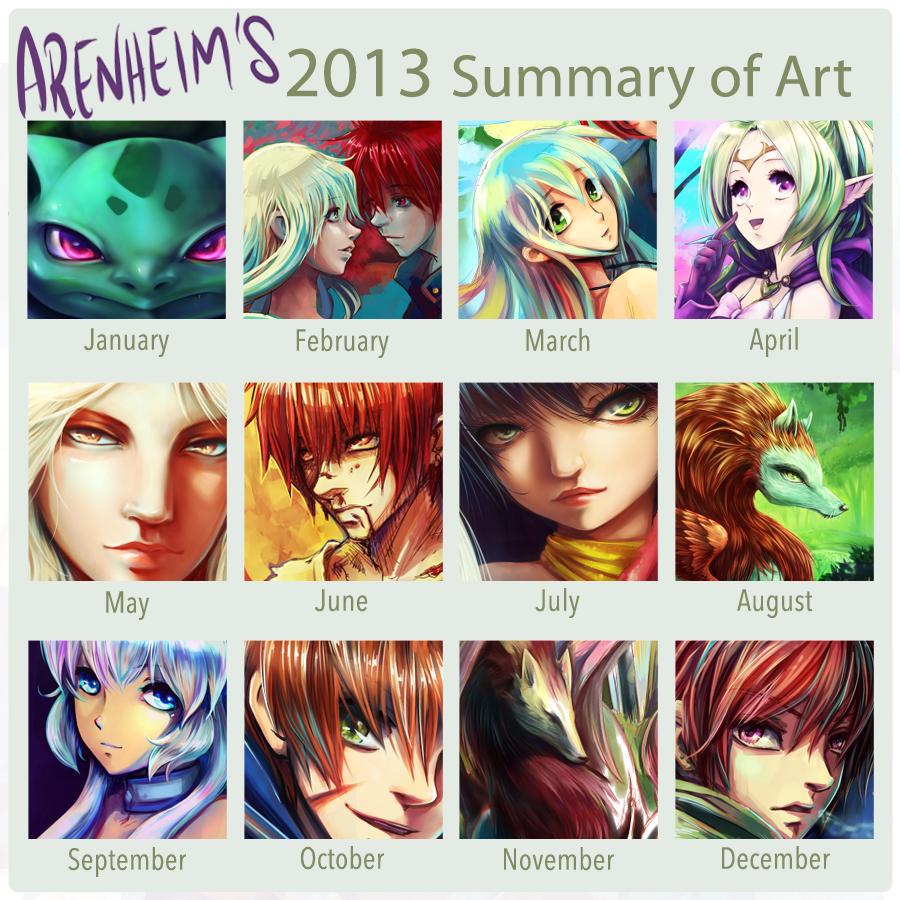2013 Summary of Art by Arenheim
