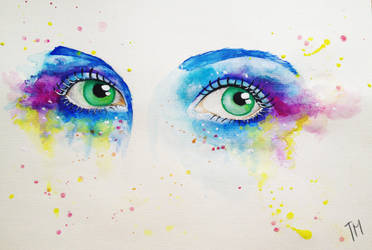 Teary eyes by BloodyButterfly-wp