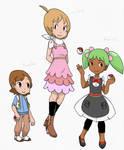PokeNEXT kids--Sebastian, Lucielle, and Anise by Hymntanra