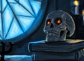 Dresden Files: Bob The Skull by Olieart