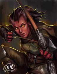 Commission: Tiefling Ranger