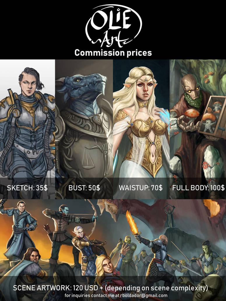 Commission Price 2019