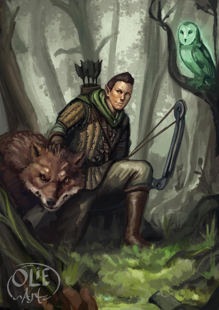 Commission Rolen Neilo Wood Elf Ranger By Olieart On