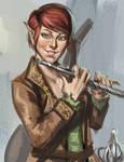 Sketch no. 426 Half Elf Bard