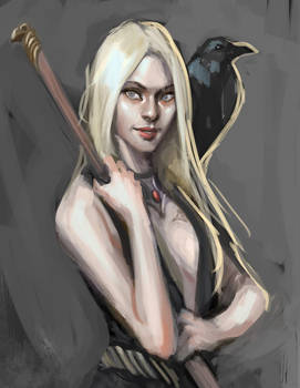 Sketch no. 527 A raven queen warlock