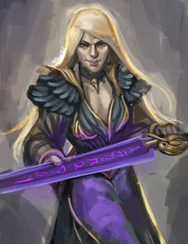 Sketch no. 528 Liadrin, Hexblade warlock