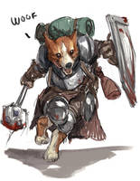 Sketch no.588 Sir Percival the Corgi Knight by Olieart