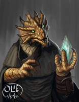 Bob the Dragon, Sorcerer-rogue by Olieart