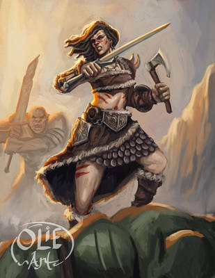 Kagera, Barbarian Orc Slayer by Olieart