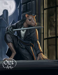 Sharva, Ratfolk Duelist by Olieart
