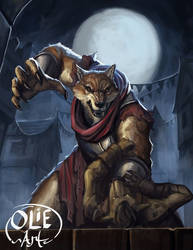 Lycanthropic Shadar-kai by Olieart