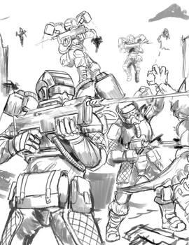 Sketch no. 722 Elysian Droptroopers