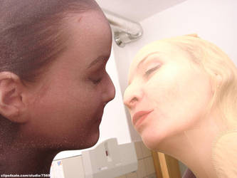 Pantyhose Head Girls In The Bathroom 4