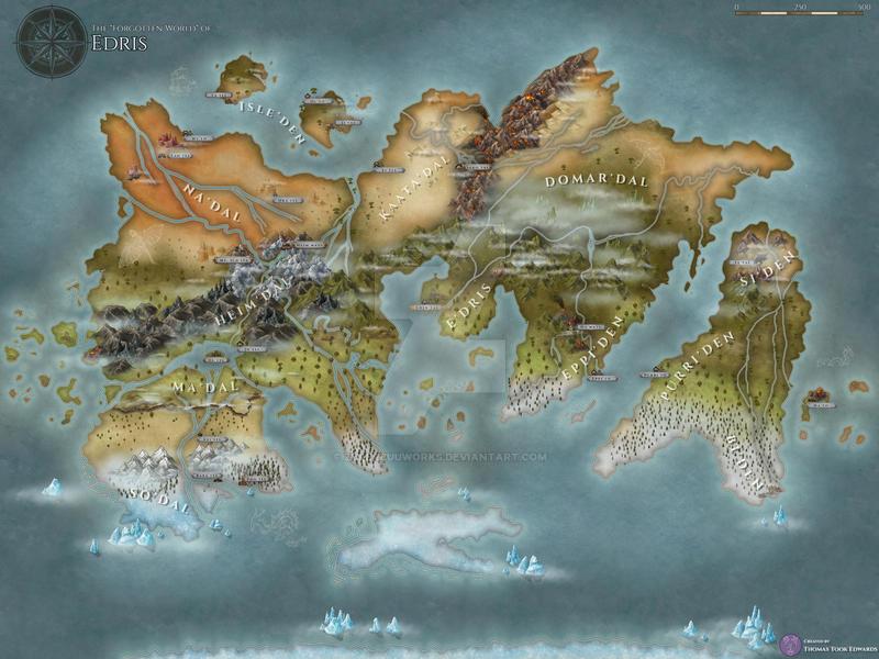 Edris World Map - Remastered