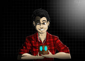 Markiplier and Tiny Box Tim by Herschysquirts