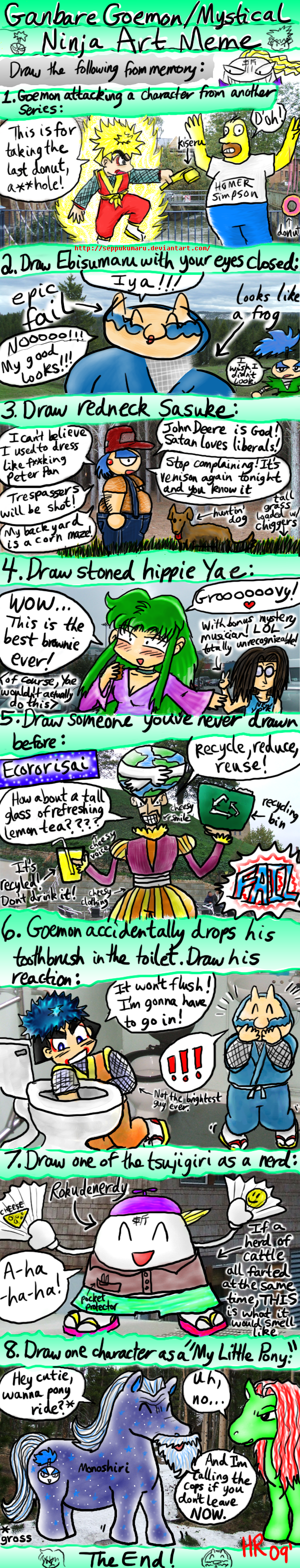 Ganbare Goemon meme- filled in by Seppukumaru