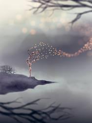 Burning Tree by RKMStudios