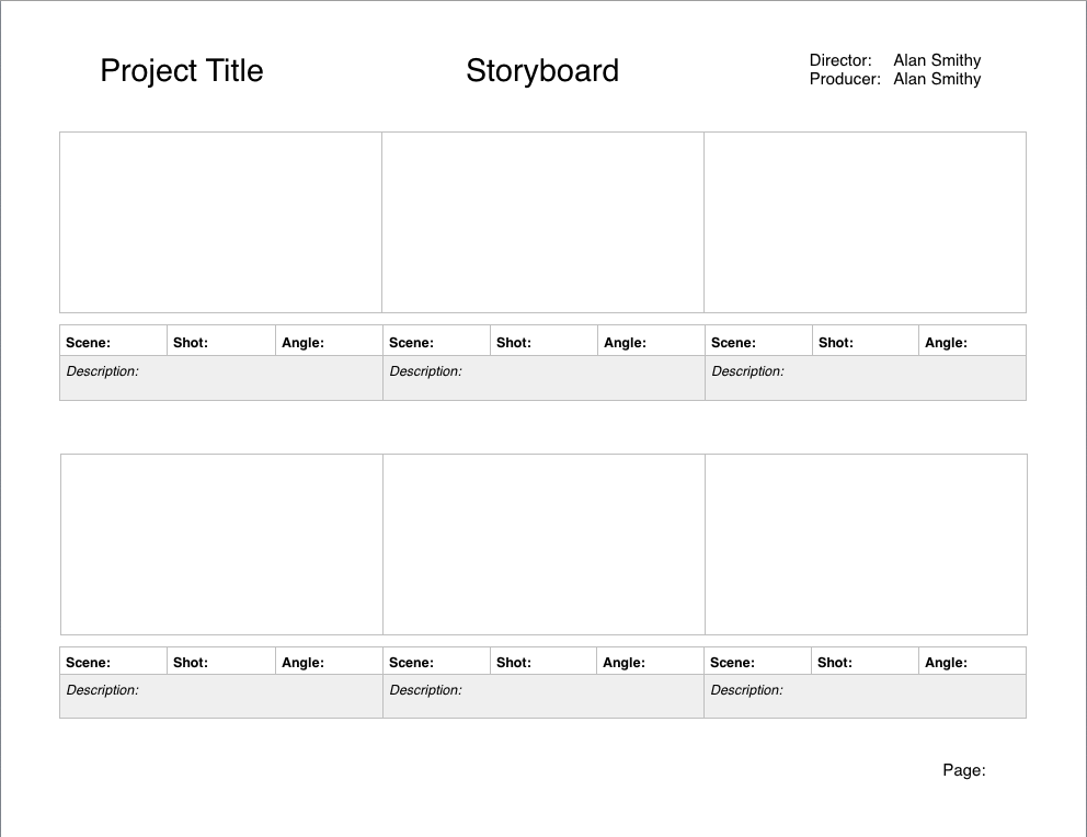 Storyboard Template For NEW Pages By RKMStudios ...