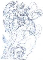 Beholdetaur sketch by hirozai