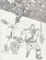 Steelhead Pencils by KurtBelcher1