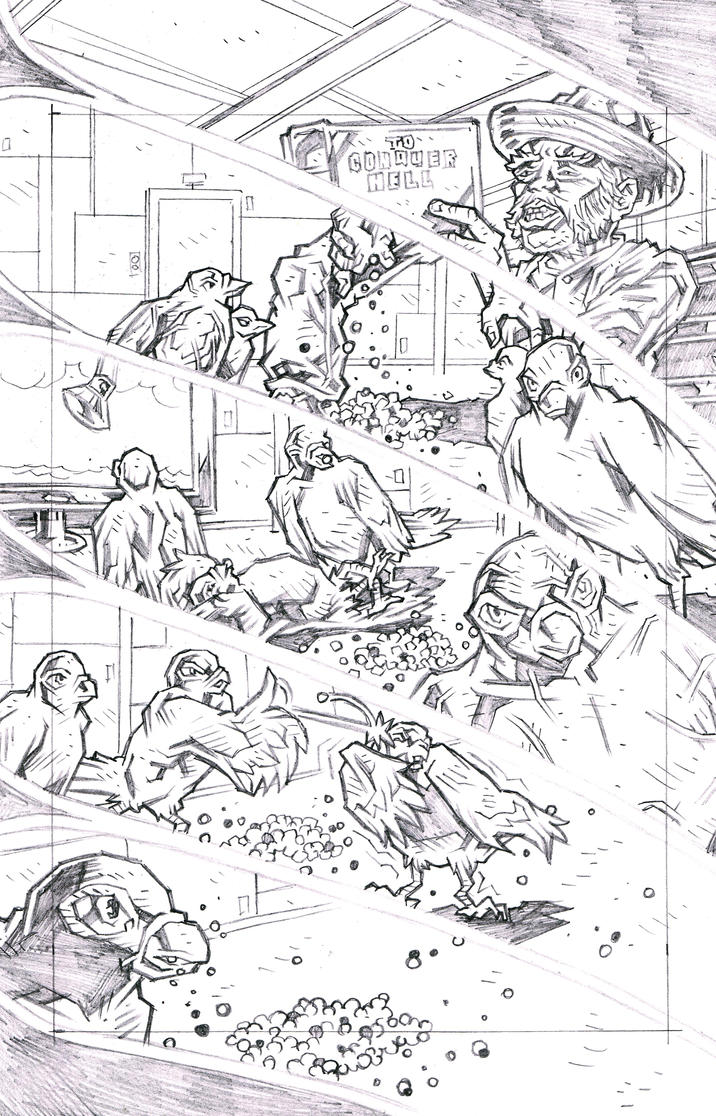 CARRIERS: WINGS OF THE PAST Page 1 Pencils by KurtBelcher1
