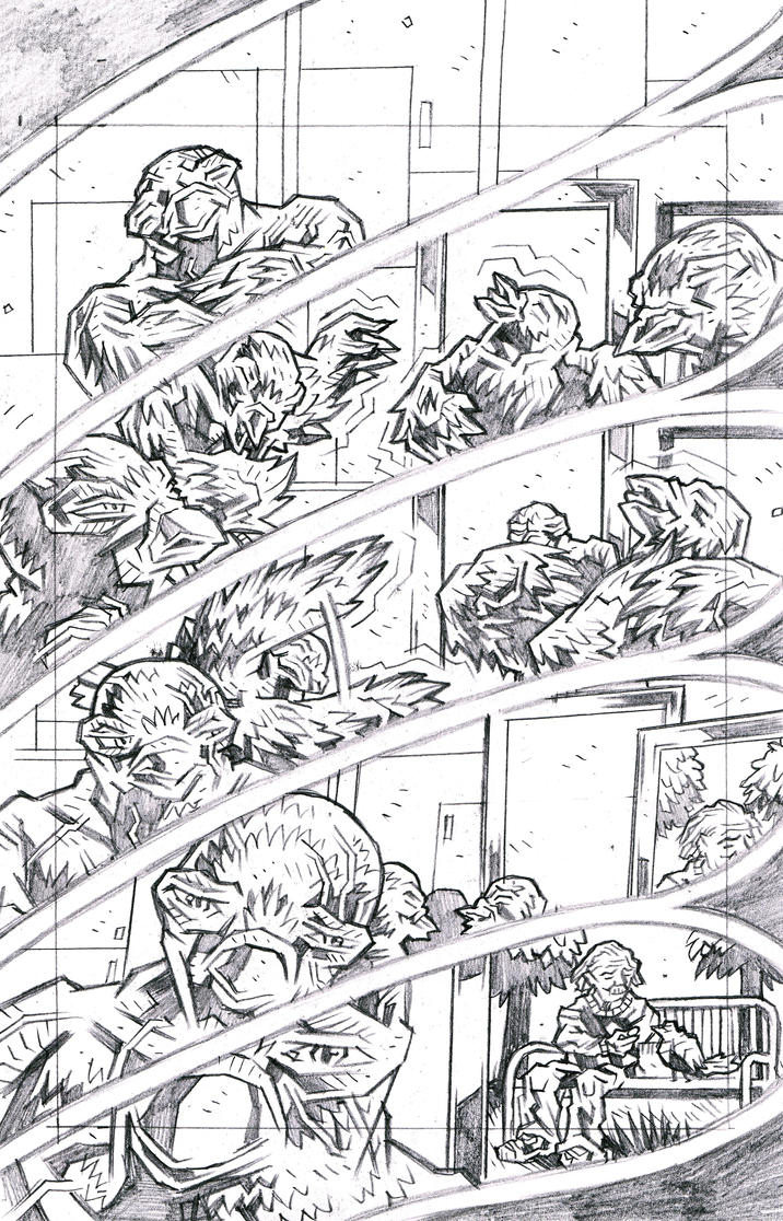 Carriers - Wings of the Past Page 8 Pencils by KurtBelcher1