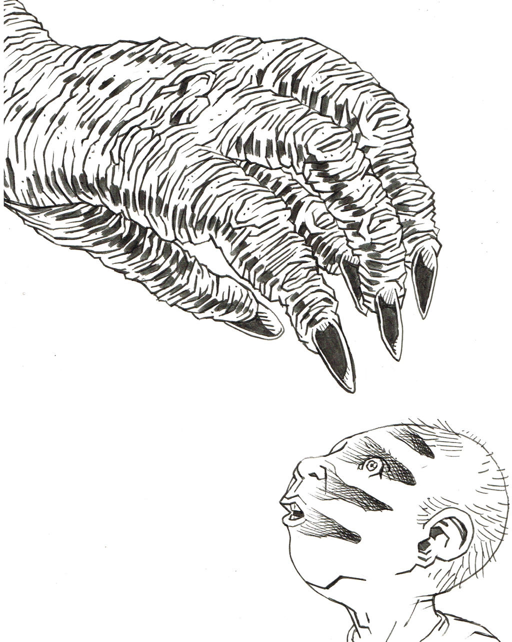 Inktober 2016 - Monster's Shadow by KurtBelcher1