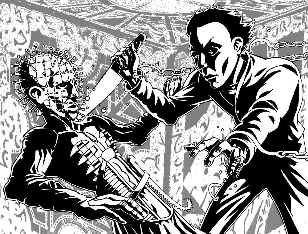 'Michael Myers Versus Pinhead' by KurtBelcher1